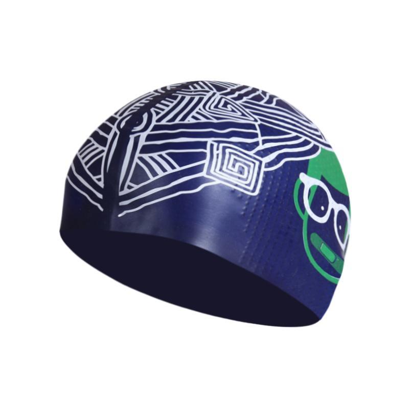 Yingfa modis Topi renang Silikon Tahan Air Tidak Ketat di Kepala bebas kerut Granul uniseks berenang Topi renang