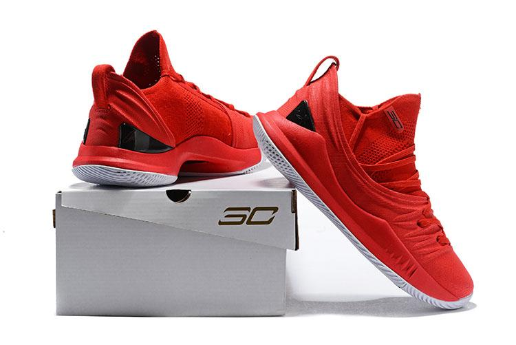 2100c1aae97 NBA 2018 Under Arm0ur Curry 5 Low Red Black Sneakers Stephen Curry UA GSW  Basketball