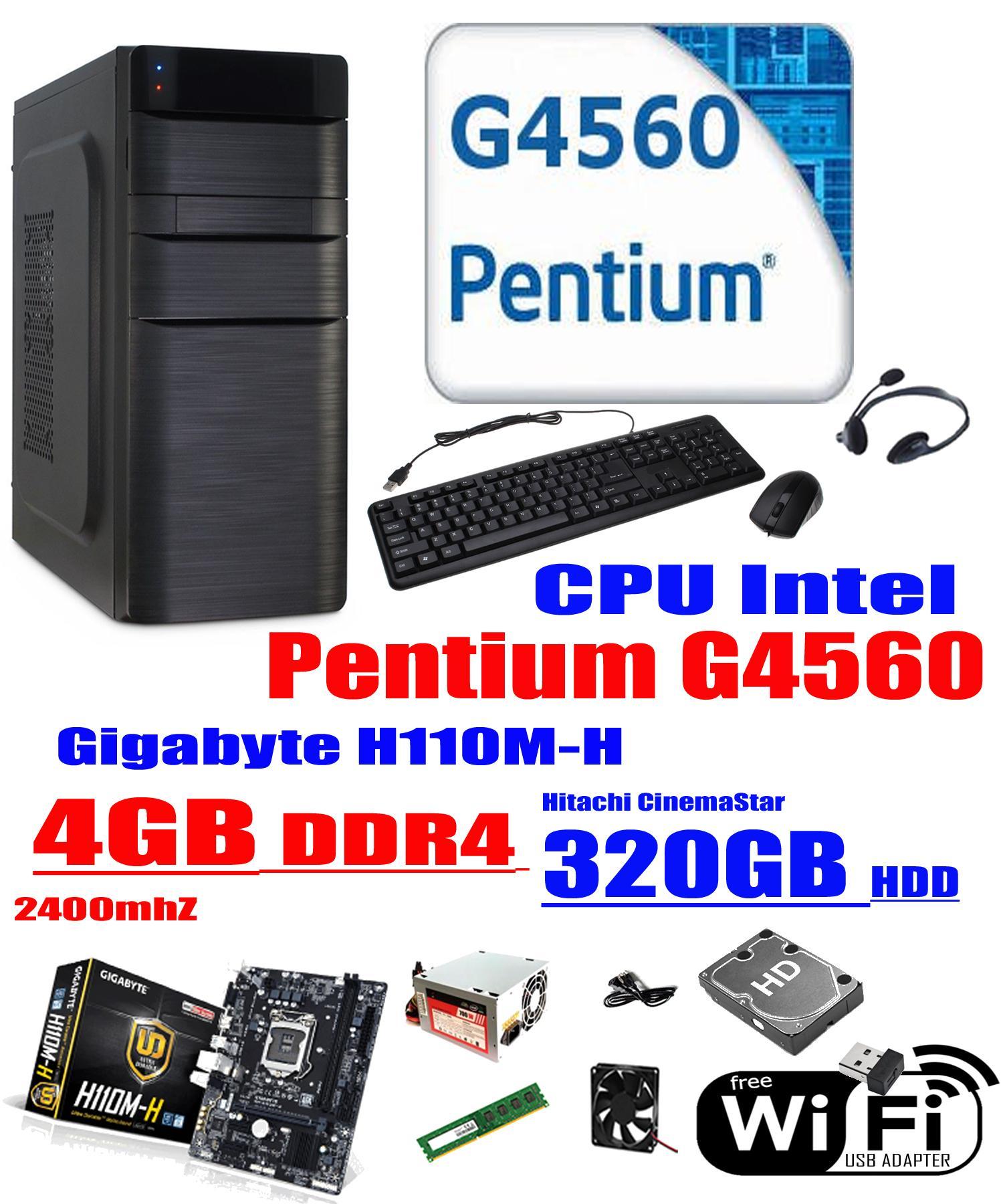 The Cheapest Price Intel Pentium G4600 36 Ghz 3mb Cache Desktop 36ghz Kabylake Socket 1151 Gigabyte Cpu 4gb G4560 Kaby Lake Dual Core 35 Ga H110m H Ddr4 2400mhz 320gb Hitachi Cinemastar Sata