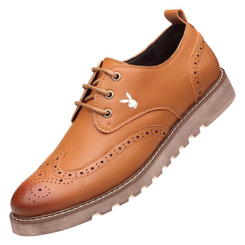 PLAYBOY BULLOCK Sepatu Pria Model Baru 2018 Musim Gugur Sepatu Pria Kasual Sepatu Kulit Sepatu Trendi