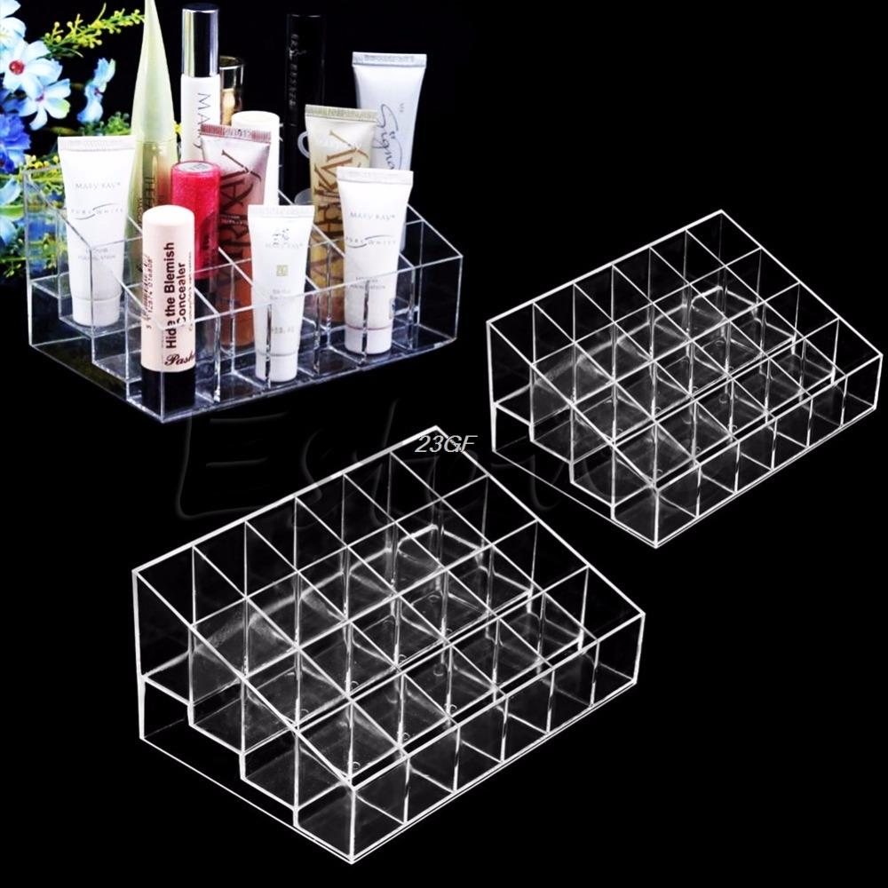 Brush Eyeshadow Case Container Lipstick Display Stand Storage Organizer Makeup Box - intl Philippines
