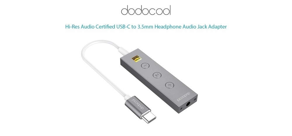 (Free Shipping Fee)dodocool Hi-Res Audio Certified USB-C to 3 5mm Headphone  Audio Jack Adapter USB Type-C to 3 5mm Earphone Plug Converter with