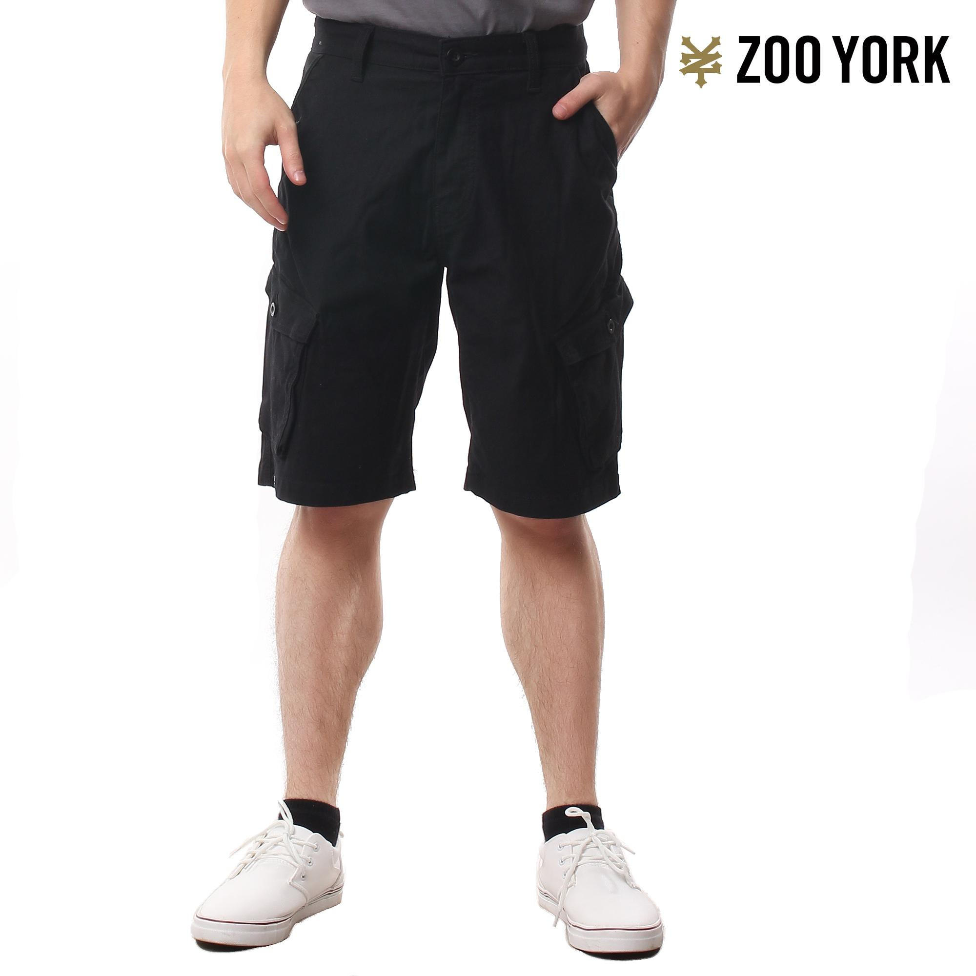 Zoo York Men's Tyson Chino Fit Cargo Shorts BLACK