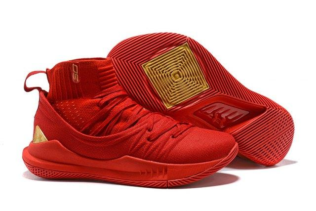 Best Seller Hot Sale Under Arm0ur Curry 5 High October Red Men s Basketball  Shoes NBA LeBron James Sport Sneakers a46fd467b