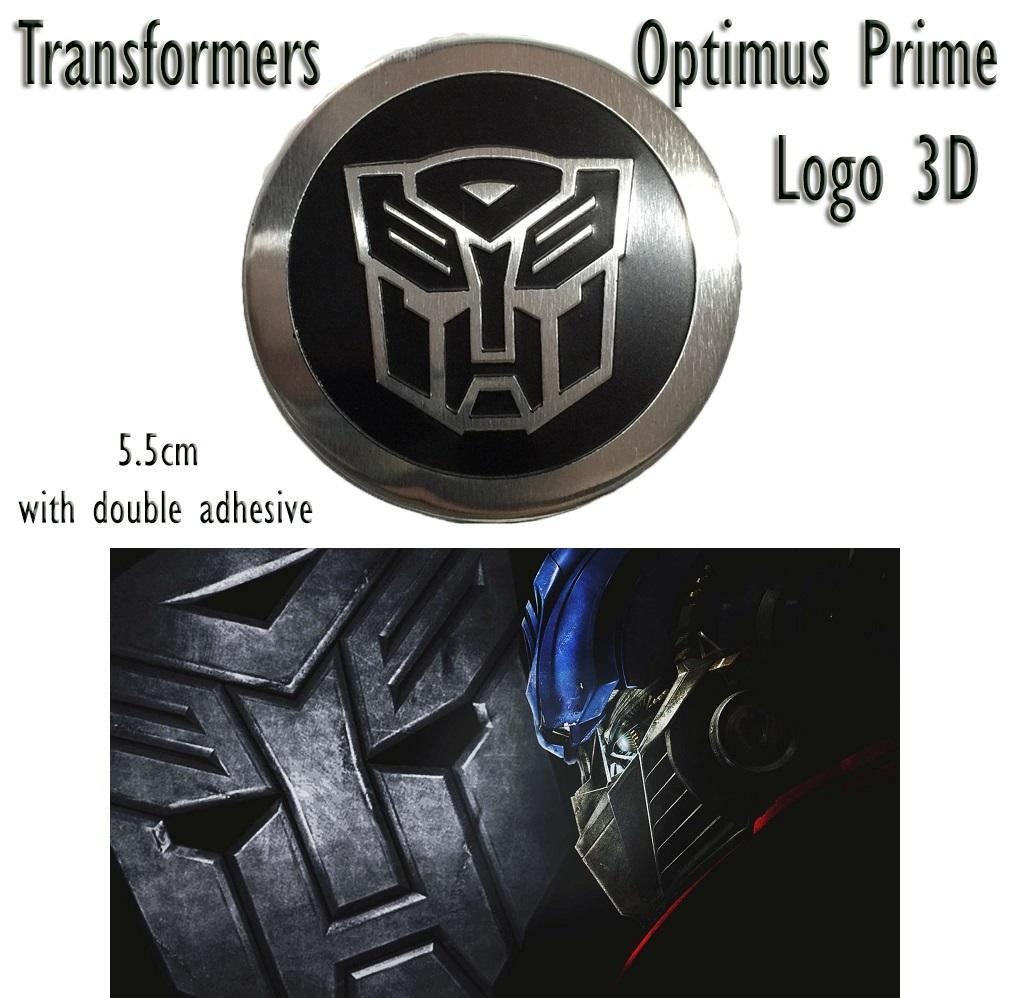 Transformer car motorcycle logo 3d aluminum sticker decals
