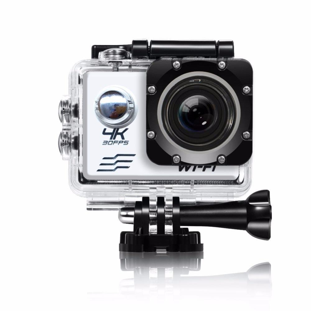 Yunmiao 4K Ultra HD WiFi Action Camera Sports Camera 16MP 170 Degree Wide Angle 2.0 Inch Waterproof Diving Camera with 2 Batteries and 19 Accessories Kit Included