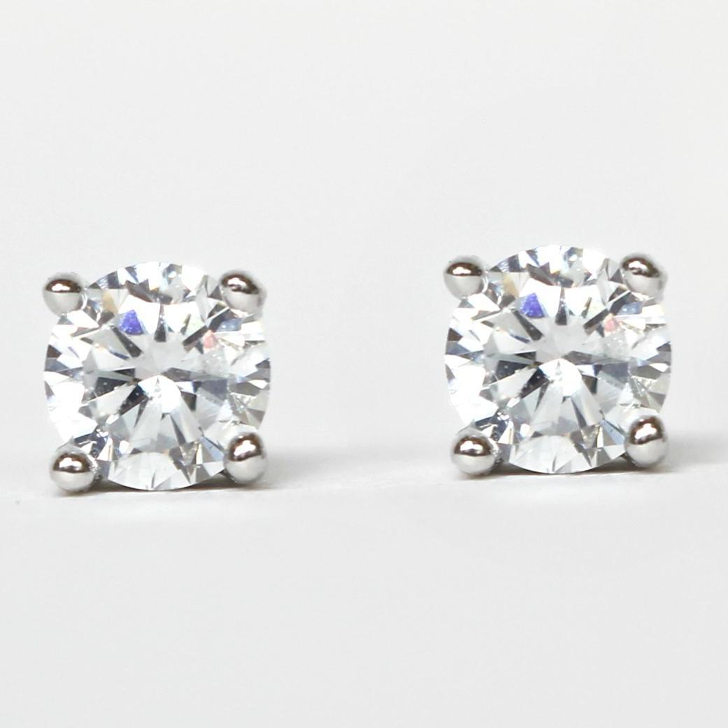 18k White Gold Plated Mini Stud Earrings