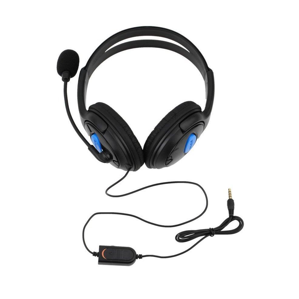 Oxg Headset Game Berkabel Headphone dengan Mikrofon untuk Sony PS4 PlayStation 4