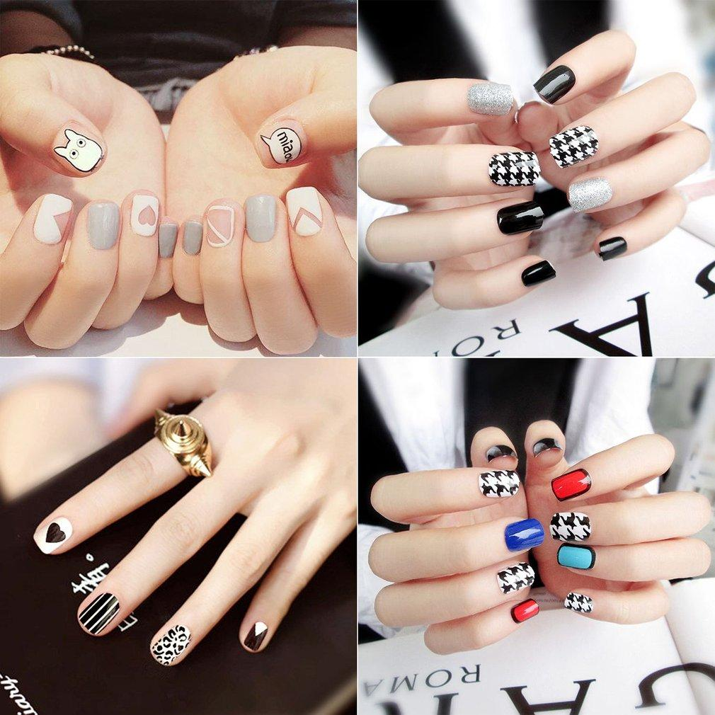 Jiehaosheng estore 24Pcs Women Fake Nails Beauty Nail Art Tips False Nails DIY Manicure Kit B10 Philippines