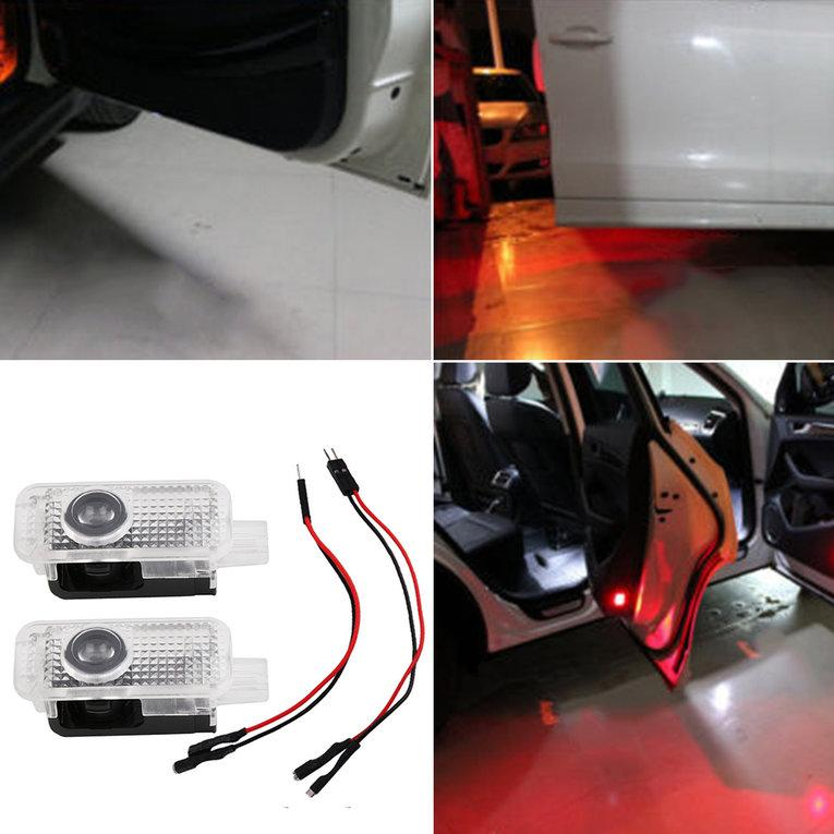 New Two LED Light Shadow Projector Car Door Courtesy Laser For Audi Car