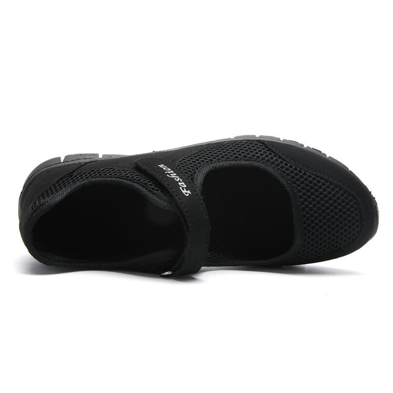 Wanita Musim Panas Manual Woven Sneakers Ringan Slip pada Sepatu Kasual Fashion Wanita Sneakers Nyaman Sport