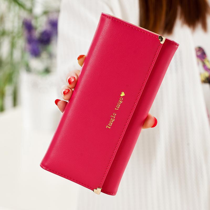 Tango Jepang Dan Korea Selatan Perempuan Sandal Gesper Dompet Mahasiswa Dompet (Rose merah) (