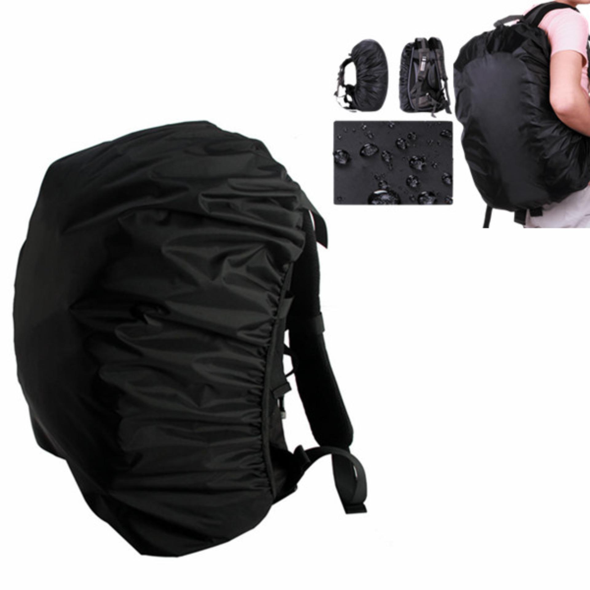 Outdoor Waterproof Backpack Rucksack Rain Cover Bag Rainproof Pack Cover  for Camping Hiking (Black) fb3774474e