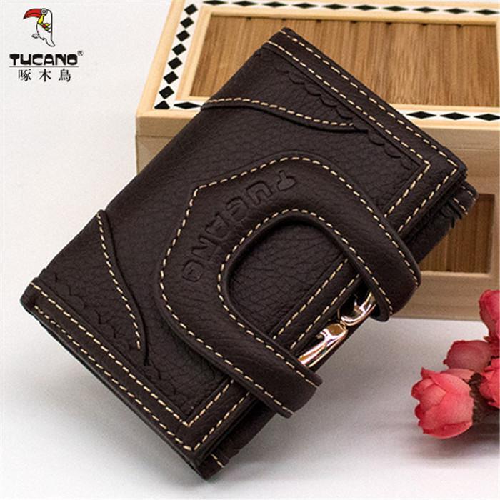 Korea Fashion Style Perempuan Produk Asli Ayat Pendek Dompet Dompet (Kopi Ukuran Sedang 4762)