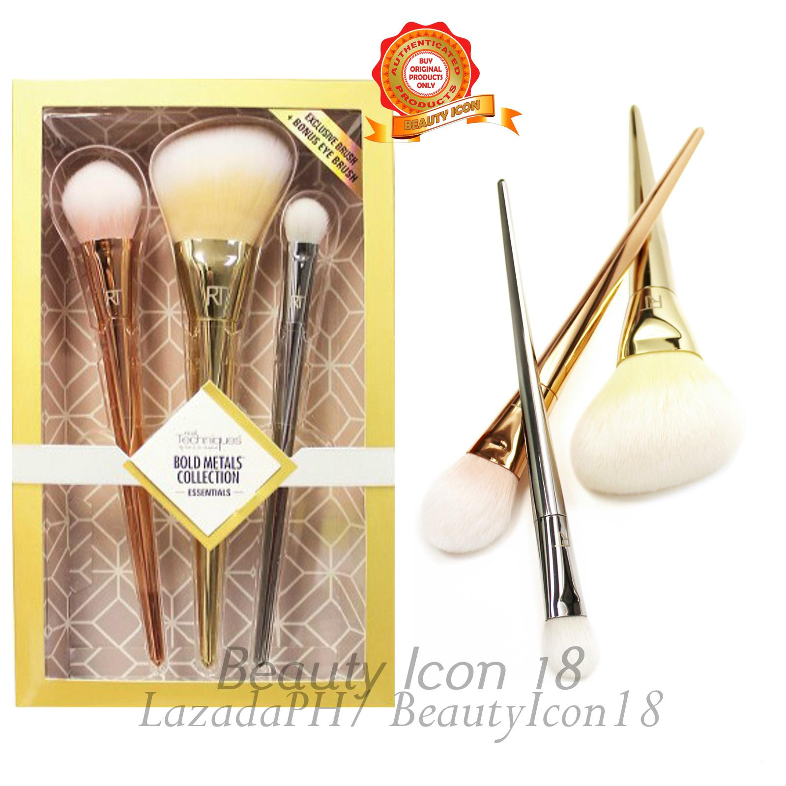Real Techniques Bold Metals Collection Exclusive Brush + Bonus Eye Brush Philippines