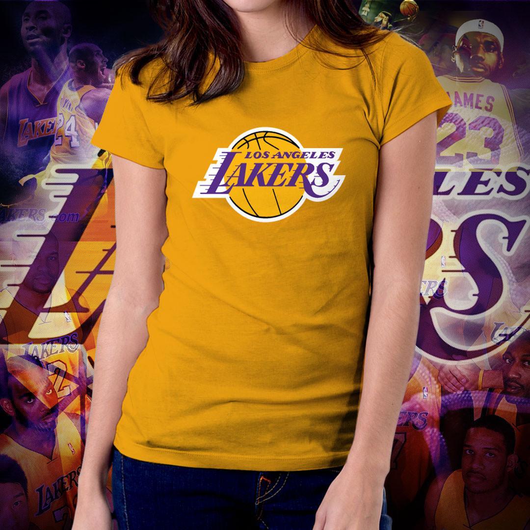 NBA Sports Basketball Team Los Angeles Lakers T-shirt for Women - LA Lakers dc924e350