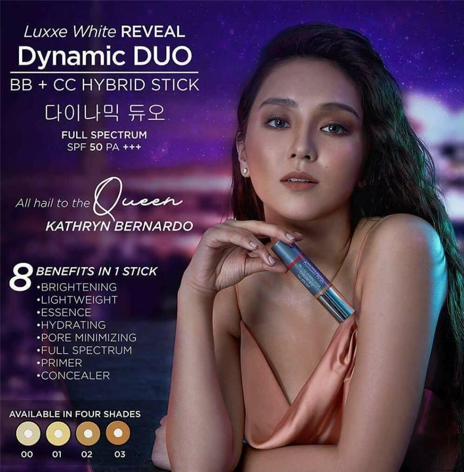 LUXXE WHITE REVEAL DYNAMIC DUO BB + CC HYBRID STICK - SPF50 PA+++ Philippines
