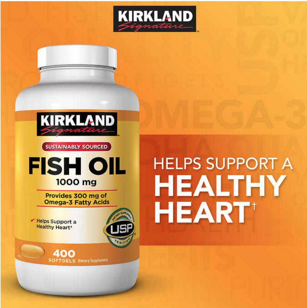 Buy Sell Cheapest 19 Twentytwo Kirkland Best Quality Product Deals Vitamin C 1000mg Signature Fish Oil 1000 Mg 400 Softgels Packing May