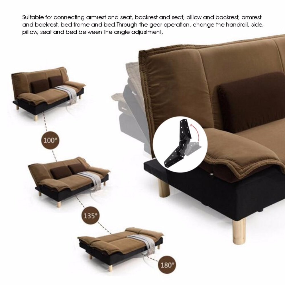 ... seat and bed between the angle adjustment, 10. Easy Installation, the use of gear opening and closing position card design, multi-angle, multi-range.