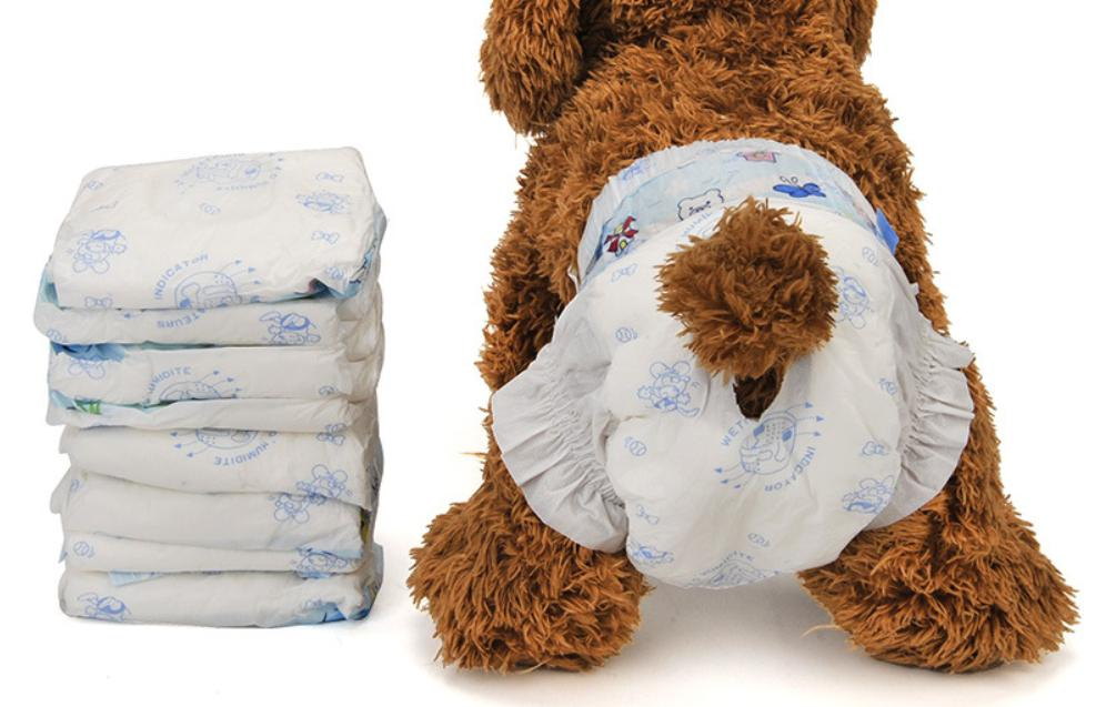 Disposable Dog Diaper 10pcs (M) 24-41cm