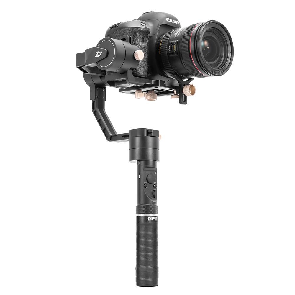 Zhiyun CRANE Plus 3-Axis Kamera Genggam Stabilizer Gimbal POV Mode untuk Nikon/Canon Sony A7/Panasonic Lumix Mirrorless DSLR