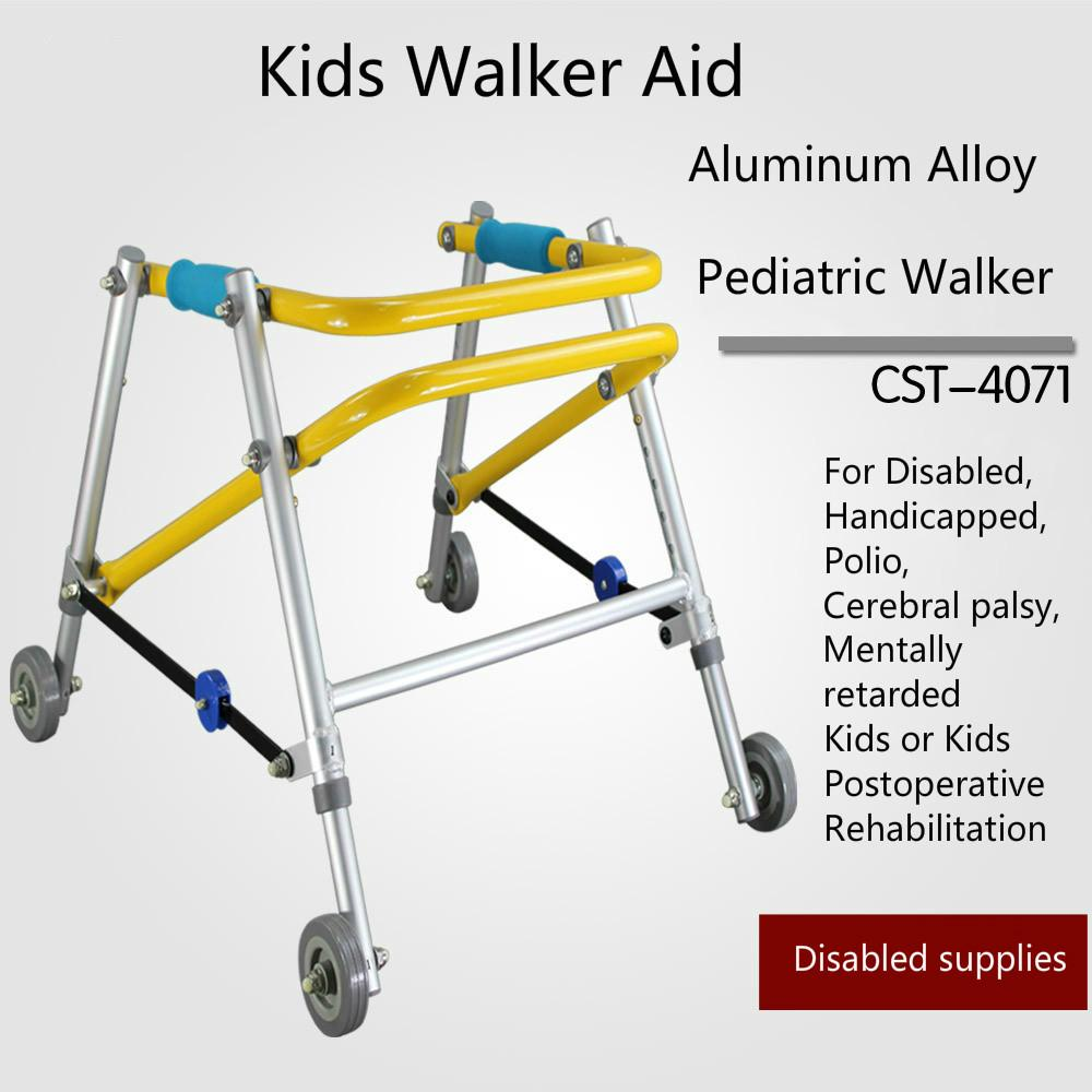 (130-140cm Height) Directional four wheel Walker learner venicle Brain Cerebral palsy Kids Children Child Rehabilitation Training equipment Stand Frame