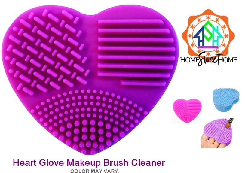 Silicone Heart Shaped Makeup Brush Cleaner Wash Glove Scrubber (COLOR MAY VARY) Philippines