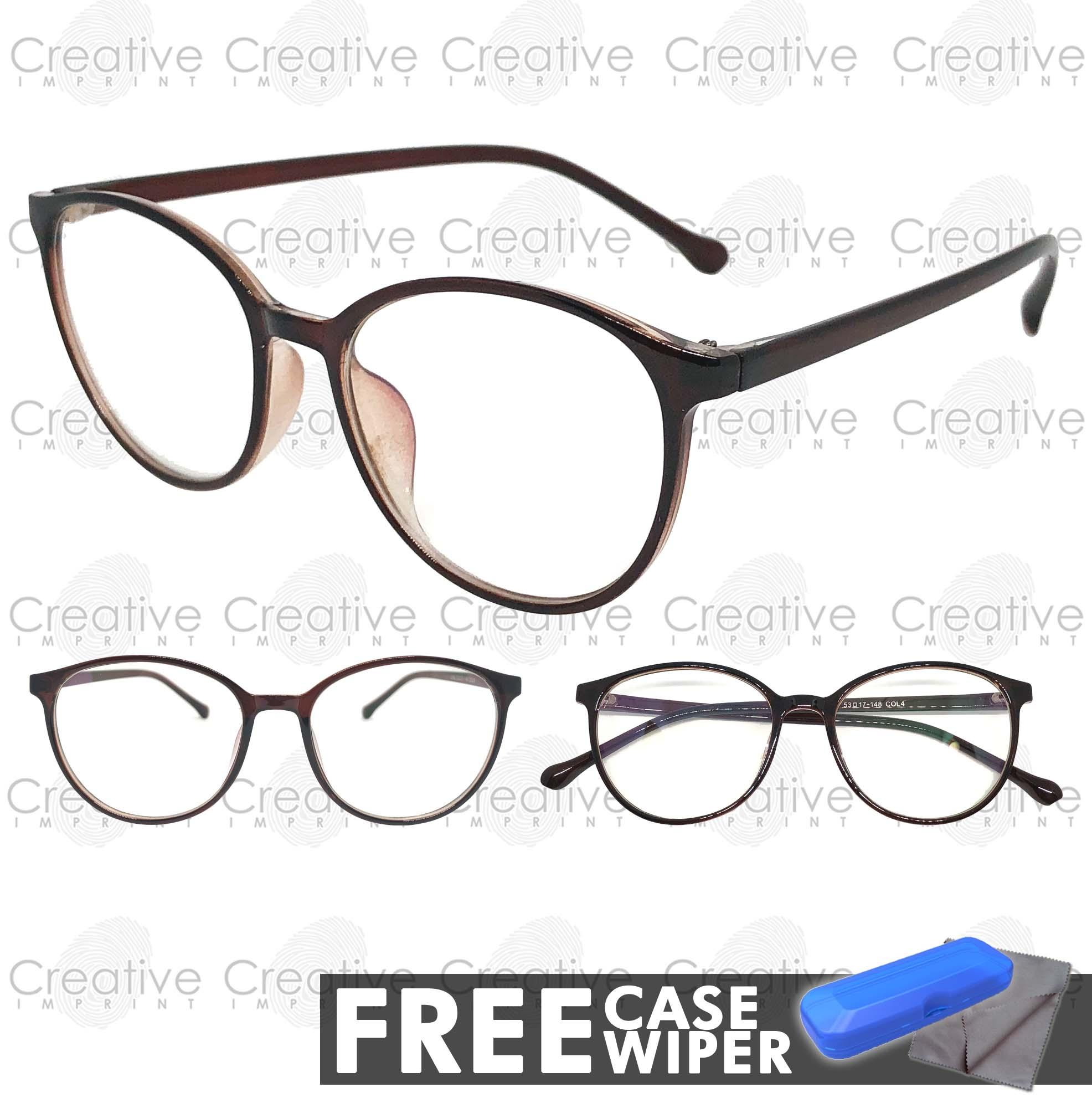 8c5bc1a4df Creative Imprint Eyeglasses Anti-Radiation Lens (#05 Brown) Anti-Fatigue  Anti