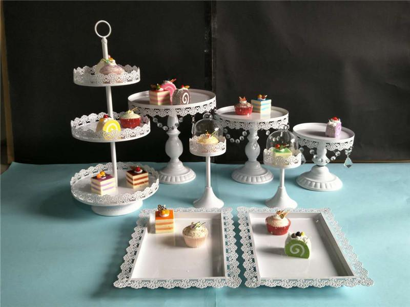 Wedding Dessert Table Decoration European Style Cake Shelf Wedding Pastry Tray Cake Dish Iron Art Afternoon Tea Dian Heart·traeh Jia By Taobao Collection.