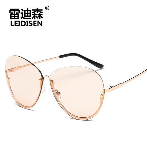 Korea Modis Jeli Warna Kacamata Hitam Wanita Tide 2017 Tembus Pandang Baru Wajah Bulat Bingkai Kacamata Hitam Kacamata Retro-Internasional