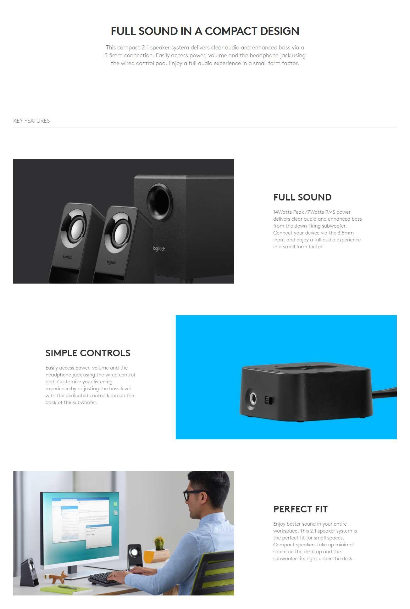 Logitech Z213 Compact 2.1 Multimedia Speaker | Lazada PH
