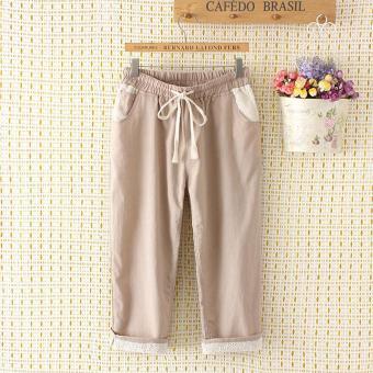 Pencari Harga Untuk meningkatkan ukuran baju wanita 200 pon mm Celana Model  bf longgar celana selutut 1255822dc8