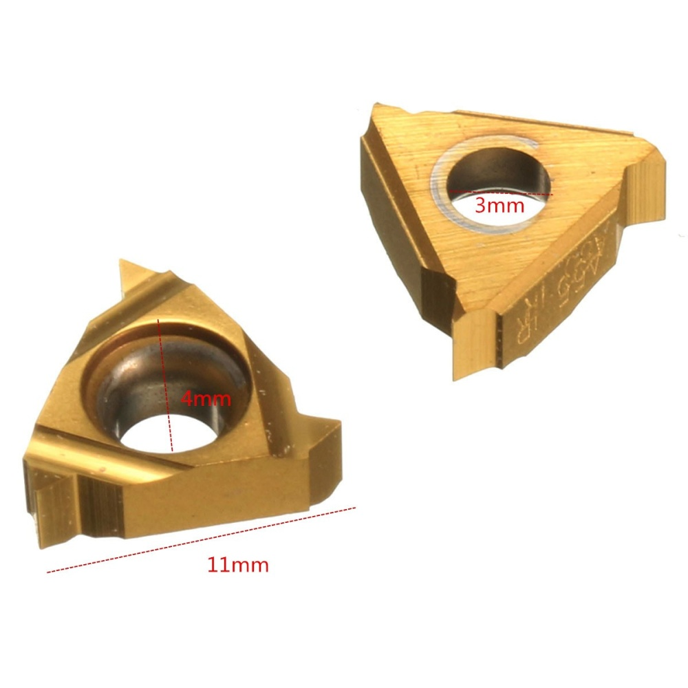 10pcs//box 11IR A60 Carbide Insert For Internal Threading Turning Tool Boring Bar