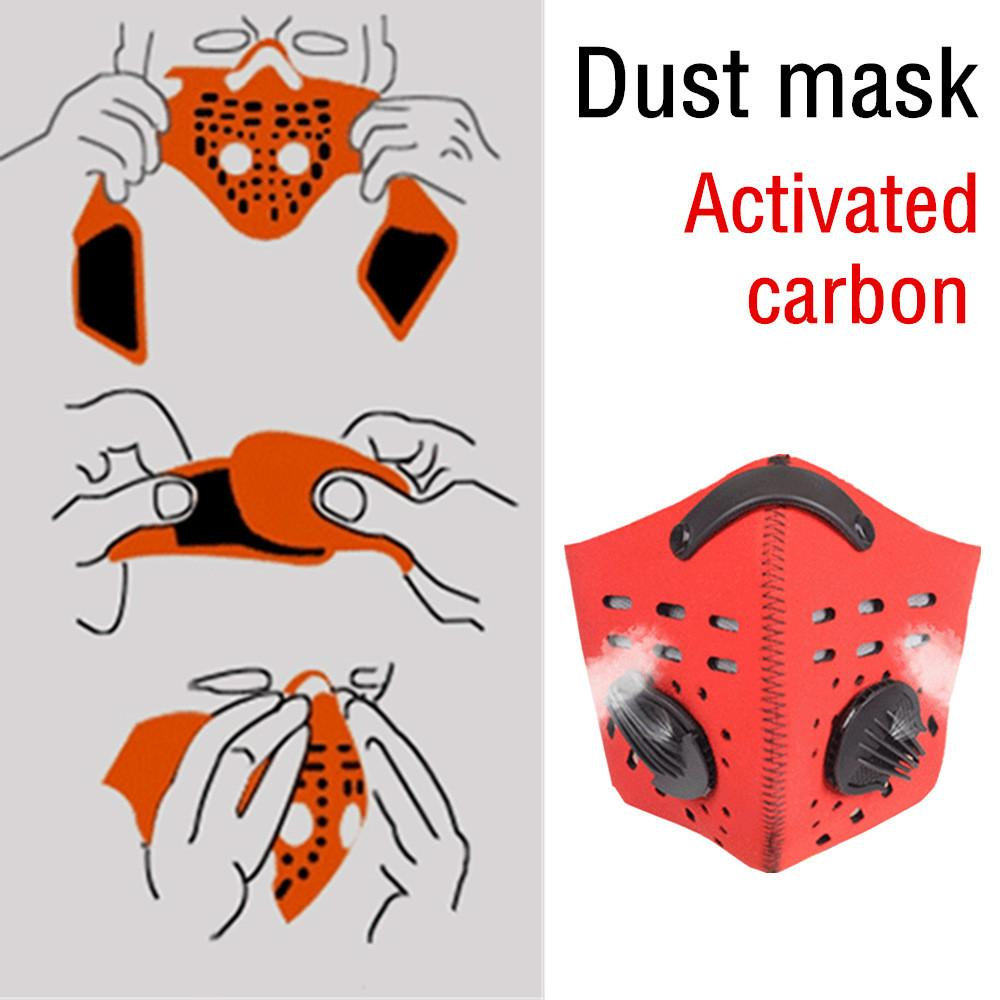 Sunshine country Outdoor Cycling Dustproof Mask Activated Carbon Filtration Exhaust Gas Face Mask