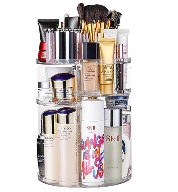 GW-288 360 Degree Rotation Makeup Organizer Adjustable Multi-Function Cosmetic Storage Box, Large Capacity, 7 Layers, Fits Toner, Creams, Makeup Brushes, Lipsticks and More Philippines