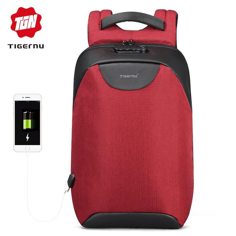 PHP 1.599. Tigernu Men Business Backpacks USB Charging Design School  Backpack for Teenagers Laptop ... d2077e7a04033