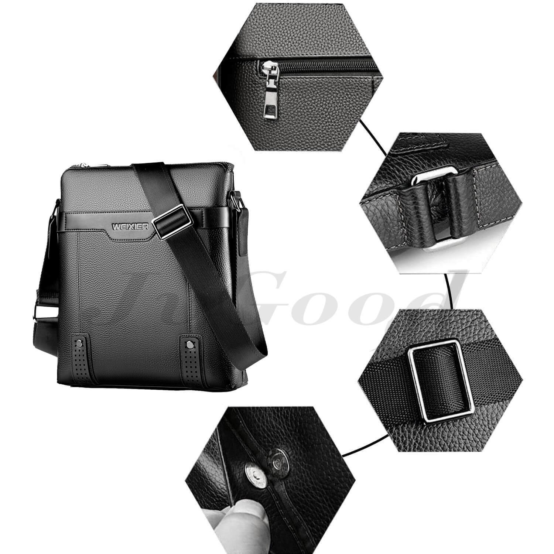 Detail Gambar JvGood Ransel Pria Tas Selempang Pria Messenger Bag PU Leather Men Bag Sling Shoulder Crossbody Bag Casual Business Men Fashion Terbaru