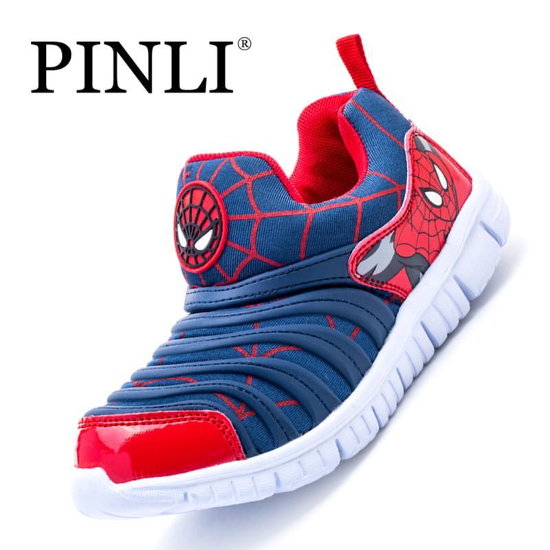 PINLI Ukuran 26-37 Sepatu Olahraga Anak-anak Ukuran Besar Sepatu Bernapas  Pedal Sepatu 7069bca891
