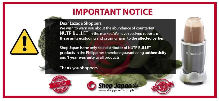 Shop Japan Nutribullet Sold Exclusively By Shop Japan Lazada Ph