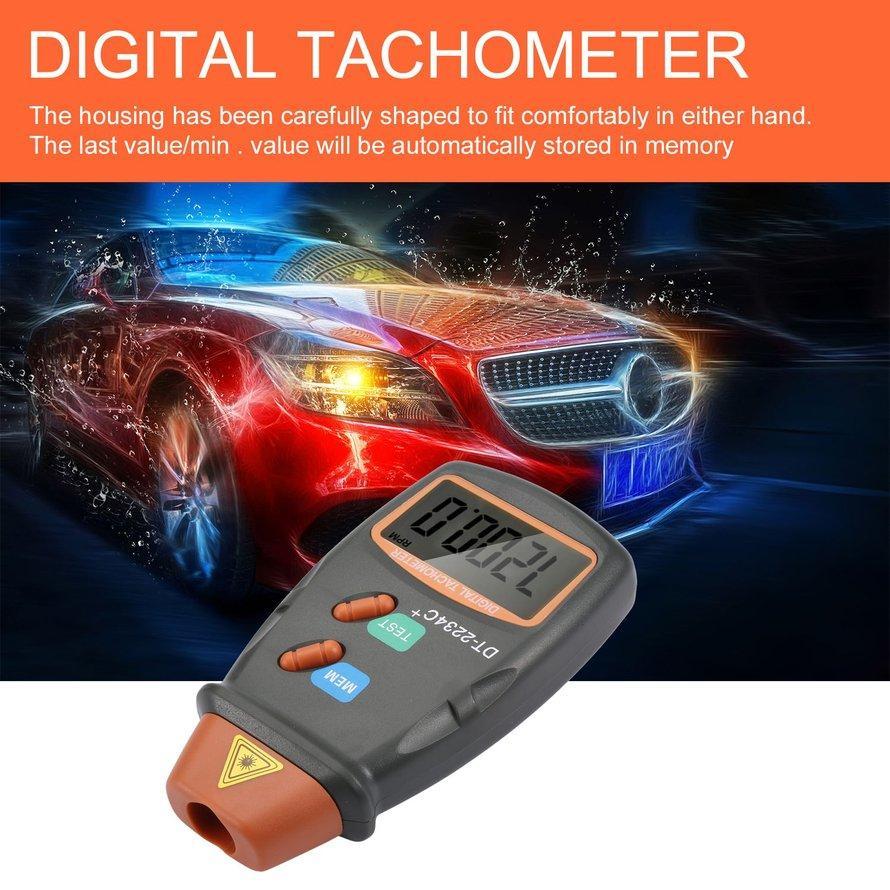 Osman Laser Digital Tachometer Foto Non Kontak Tachometer RPM Alat Pengukur Kecepatan Mesin