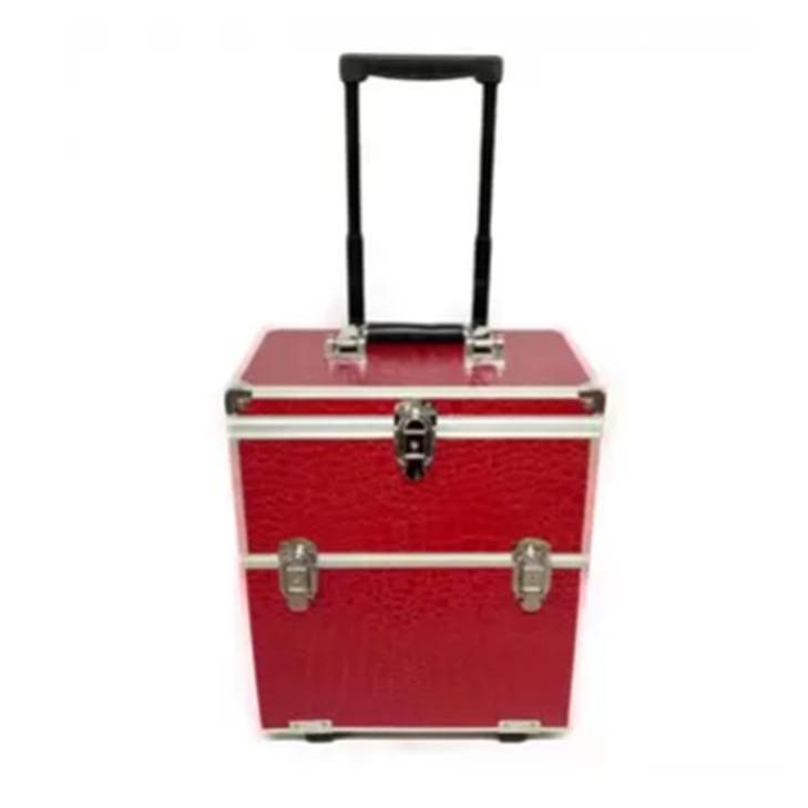 Professional Trolley Aluminum Makeup Case (Red) Philippines