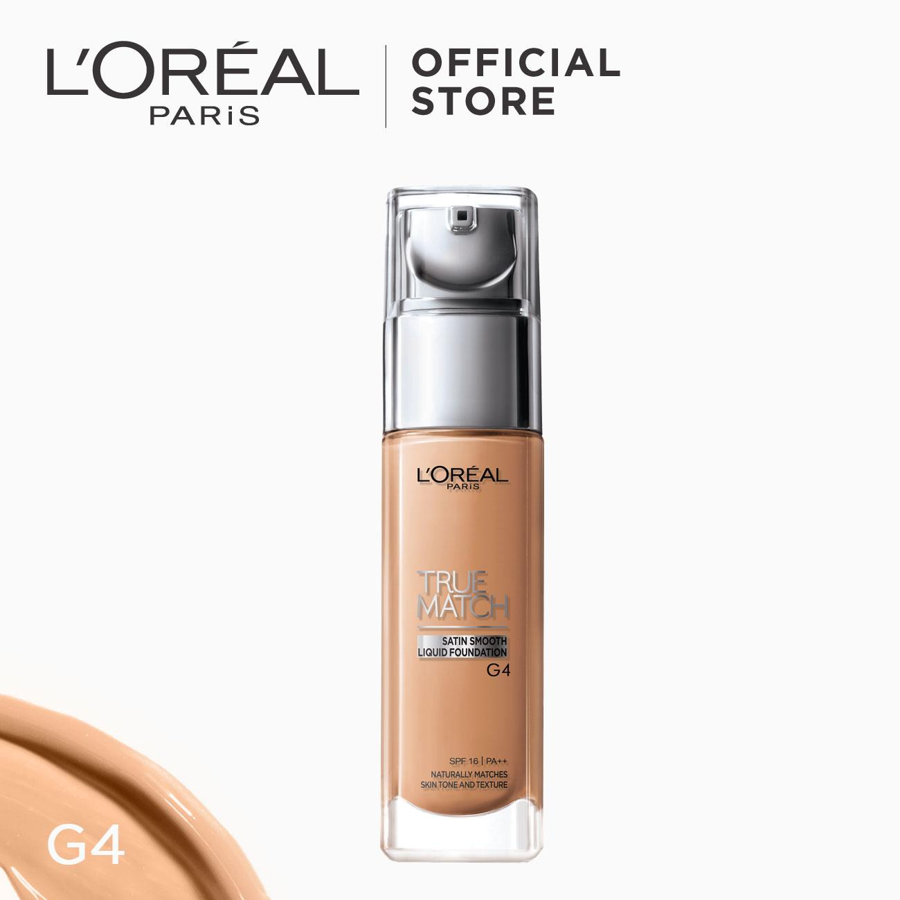 True Match Natural Finish Liquid Foundation - G4 Gold Beige by LOréal Paris Philippines
