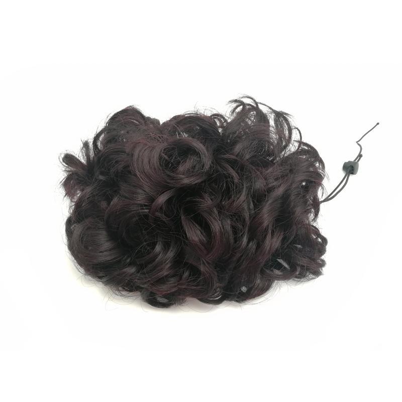 Beli sekarang Latte Art kostum rambut Tas Rambut palsu perempuan kepala ikat rambut cepol pengantin wanita Hiasan Rambut berbulu halus Konde Rambut bentuk ...