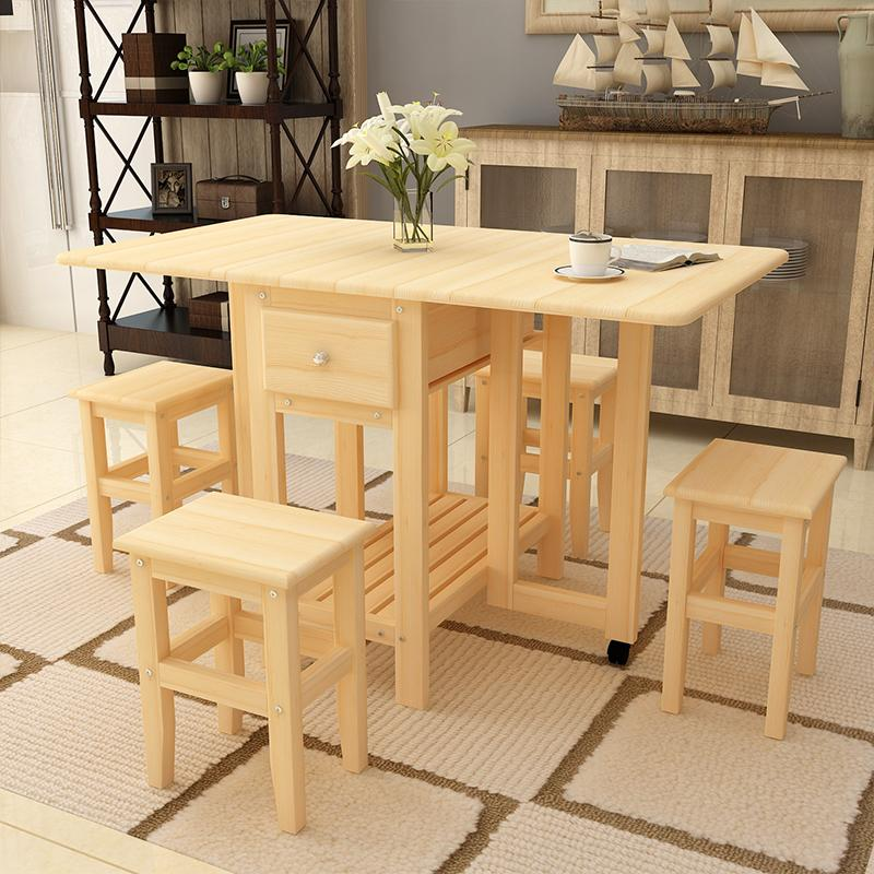 Buy Kitchen Table And Chairs Part - 19: KRUZO Tuscany Extendable Folding Dining Table Set With 4 Chairs