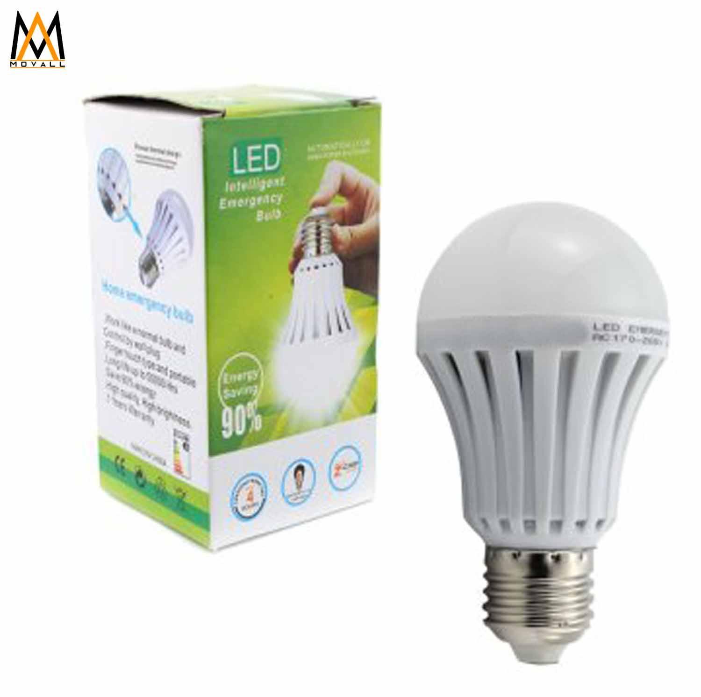 9W Smart Intelligent Emergency Light LED Bulb Waterproof