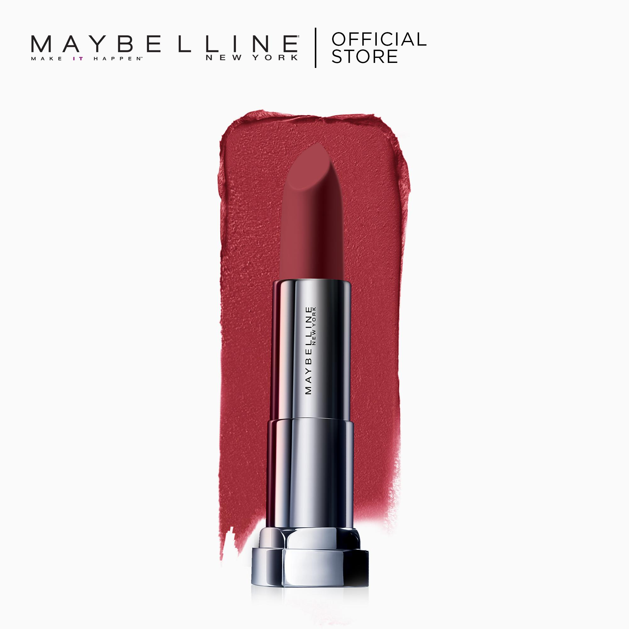 Maybelline Color Sensational Powder Matte Lipstick (Noir Red) Philippines