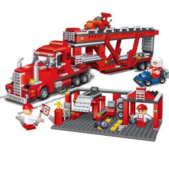 Price Checker BanBao truk perakitan Mainan Balok anak-anak anak laki-laki rakitan mainan