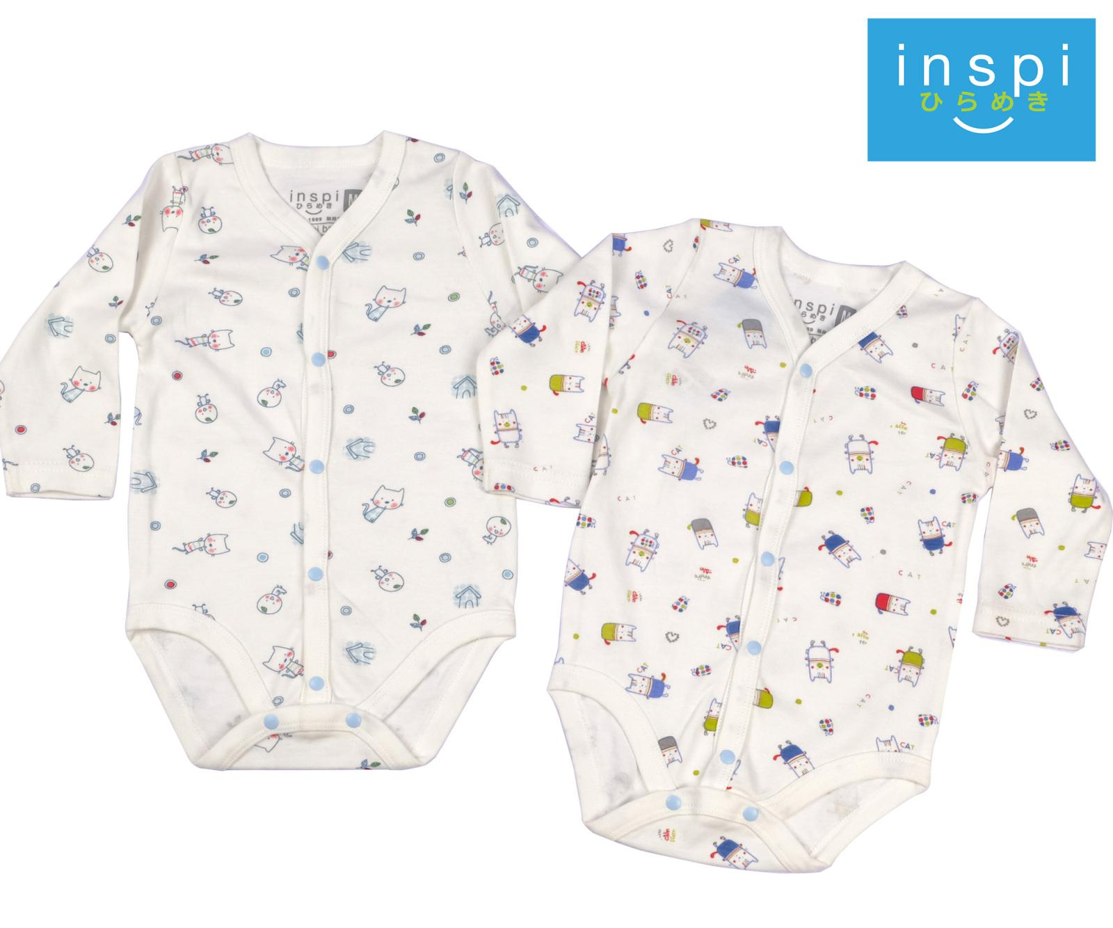 Newborn clothes for sale newborn baby clothes online brands inspi babies 100 cotton onesies long sleeve with button white newborn infant quality jeuxipadfo Image collections