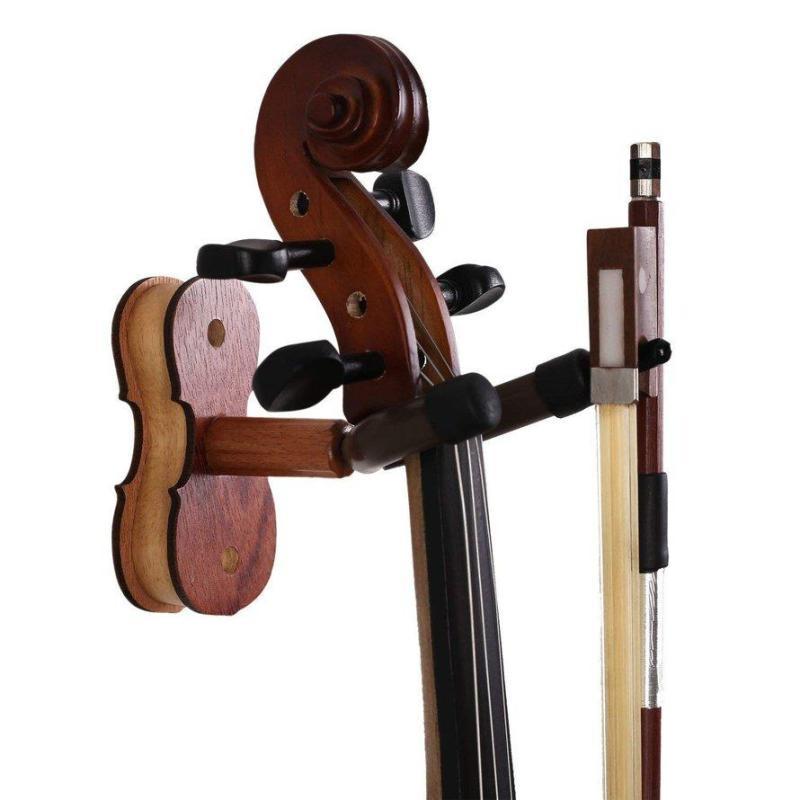 OSMAN Practical Wall Mounted Violin Fiddle Viola Hanger Hook Wood Base Violin Hanger Malaysia