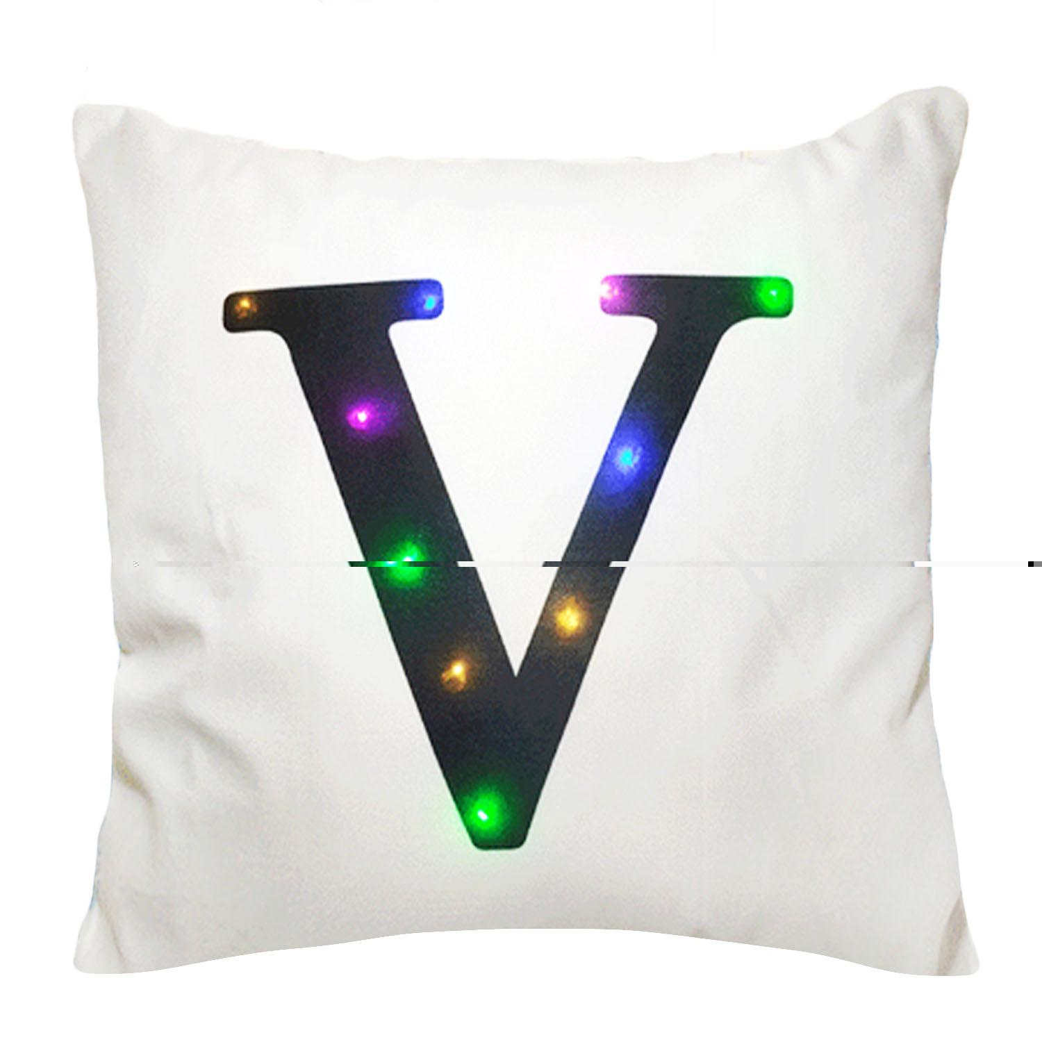 Jual v for vendetta mask cek harga di PriceArea com Source · 45 x 45cm Fashion Large Printed Letter Throw Pillow Cover Case Pillowcase with Glowing LED ...